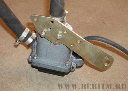 Рис.1 Установка электроподогревателя на ВАЗ-2110-12 (16 клапан.)