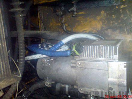 Установленый подогреватель с новой проводкой
