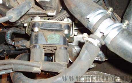Рис.4 Монтаж электроподогревателя на автомобиль Нива