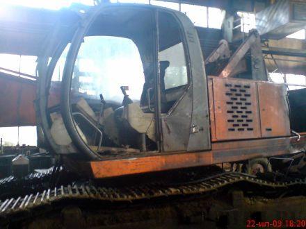 Экскаватор ЭО-4225А-061 - замена стекол кабины