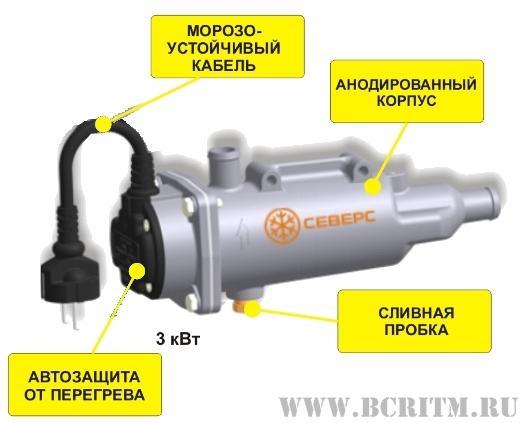 Электроподогреватель Северс-М3 3 кВт 220В-Бизнес Центр - РИТМ - Продажа дорожно-строительной техники: фронтальный погрузчик, э